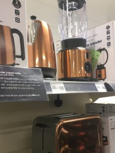 A selection of copper products