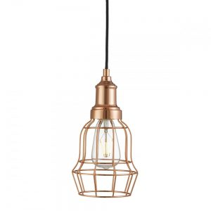 The 6847CU cage pendant light fitting