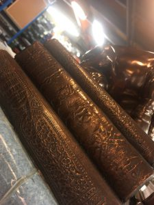 Items with character are often used as moulds for David Hunts products. In this picture is a resin cast of some old, detailed books