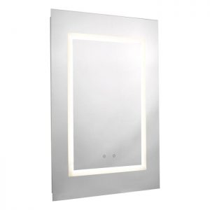LED illuminated mirror with bluetooth speaker