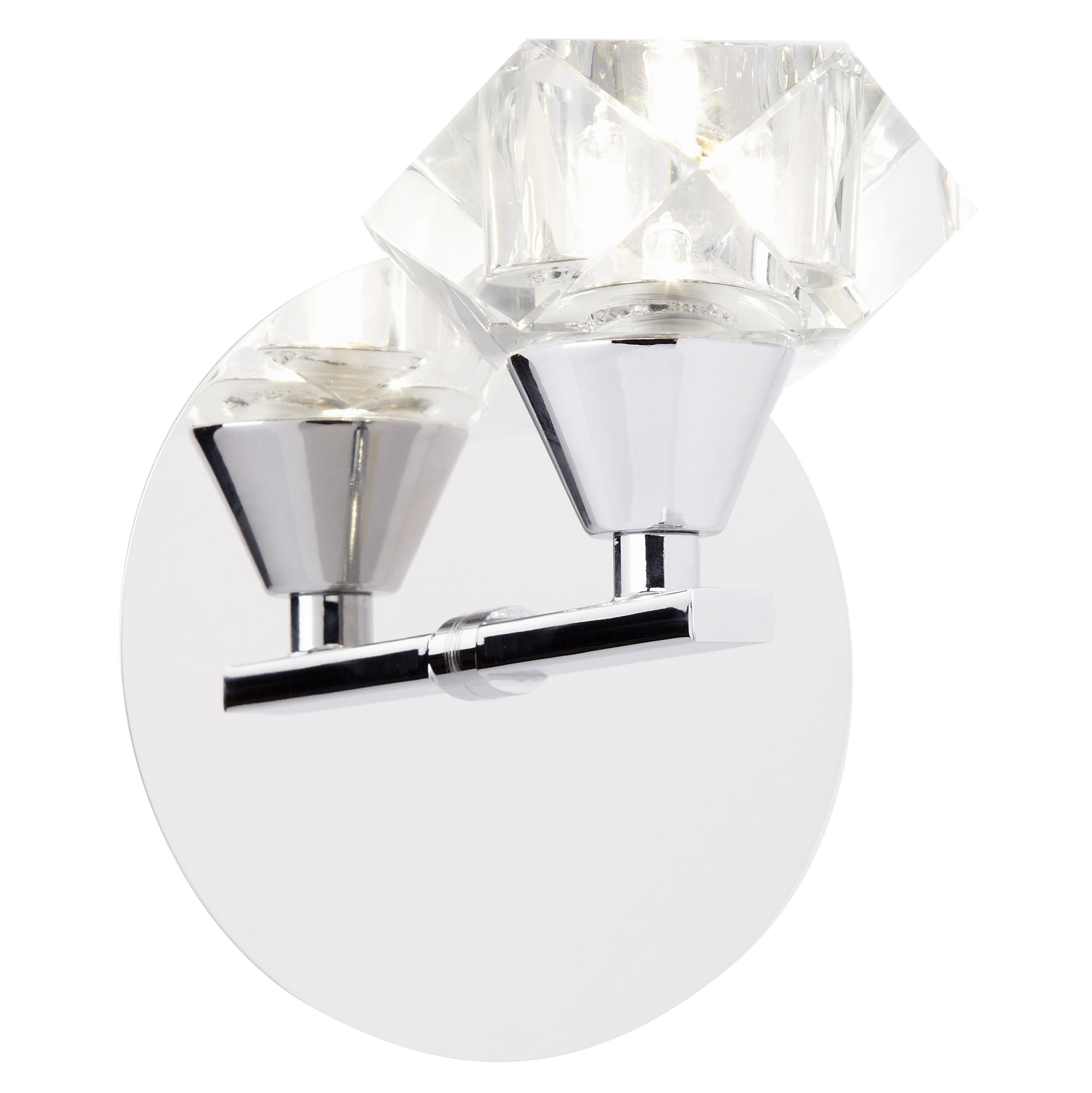 1 Light Wall Bracket In Chrome With Clear Glass Shade ARIETTA-1WBCH