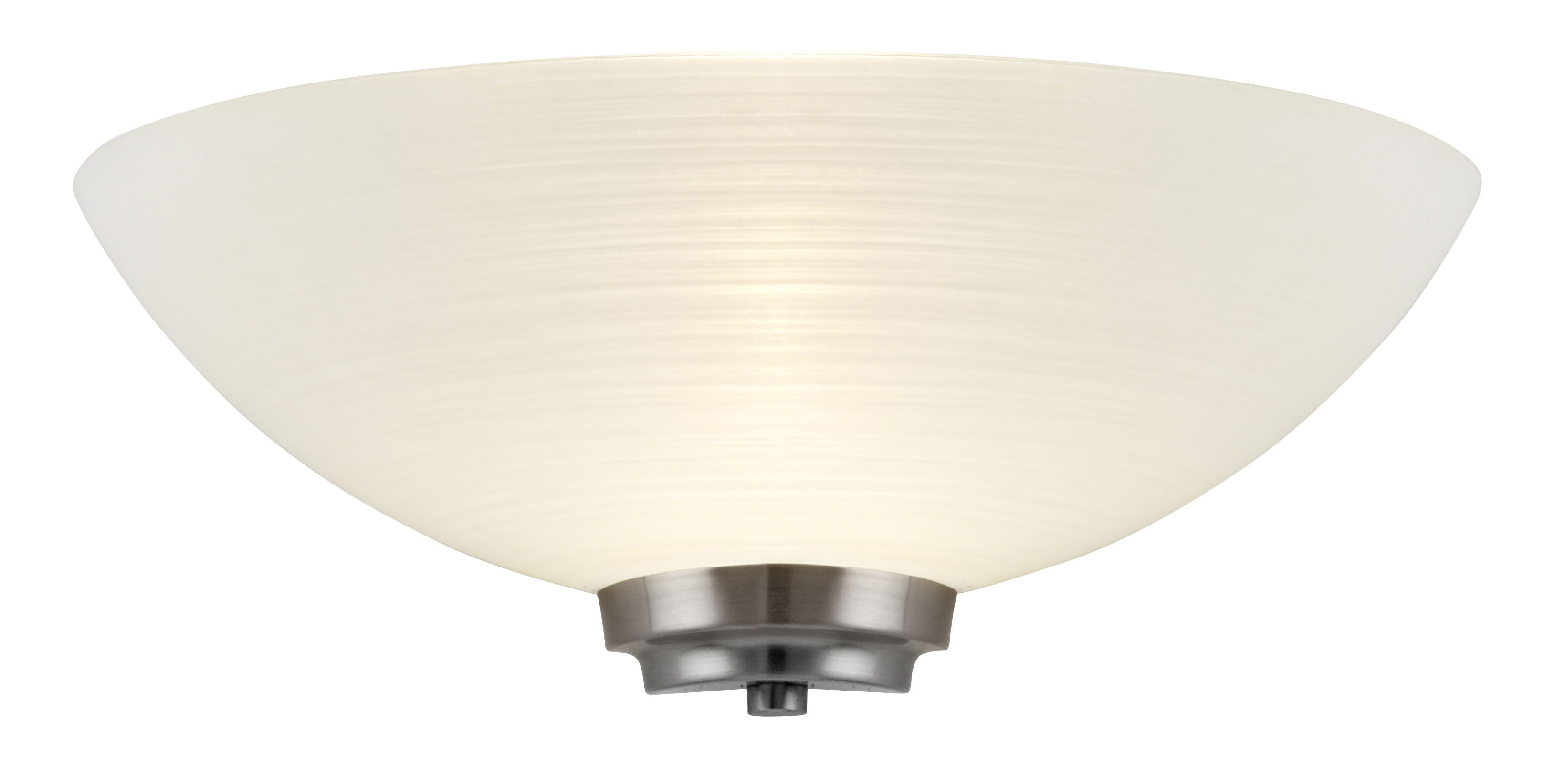 1 Light Wall Light In Satin Chrome Frosted Glass Shade