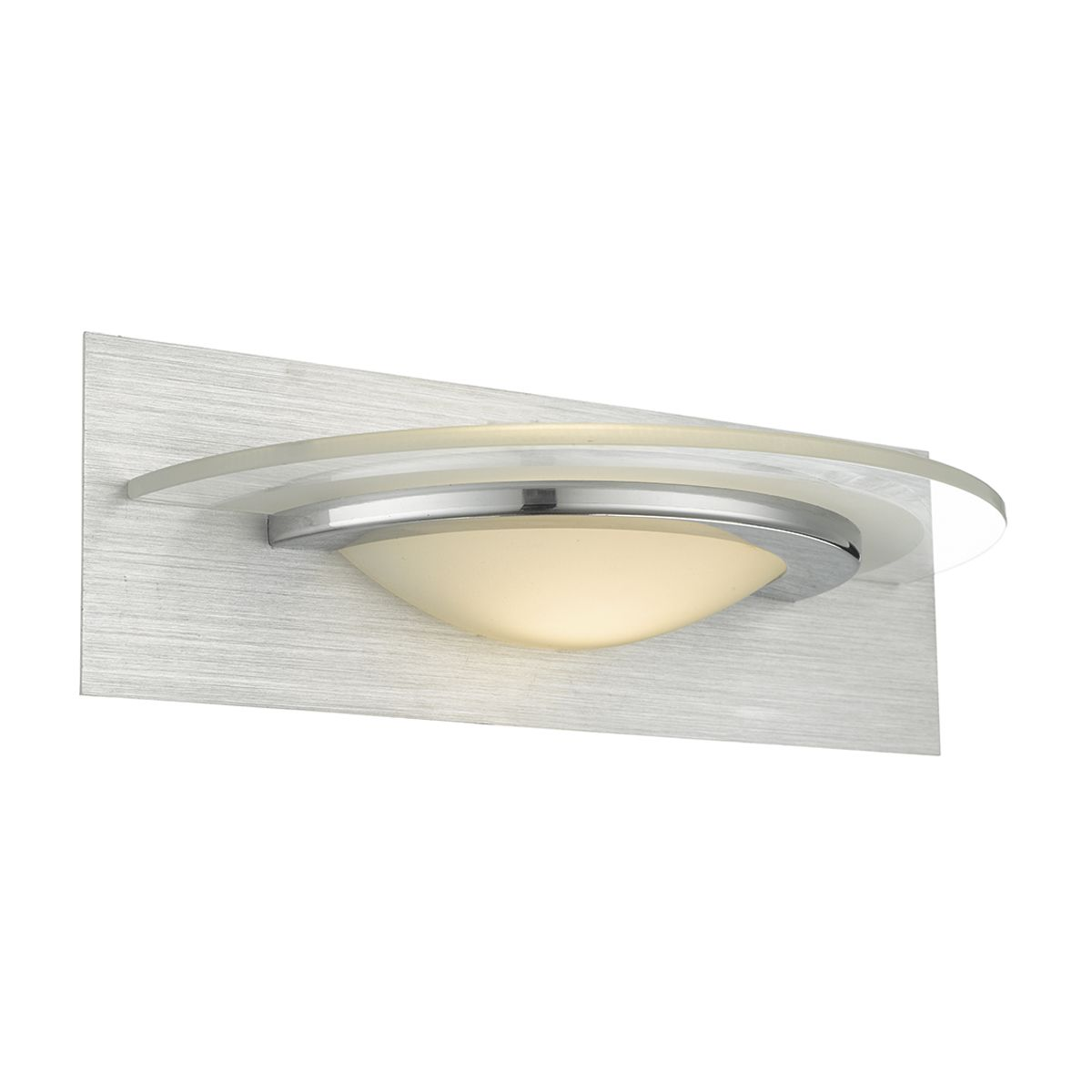 Double Insulated Class 2 Wall Lights : ANALYZE Wall Light BRUSHED ALU CHROME LED Class 2 Double Insulated BXANA0768-17