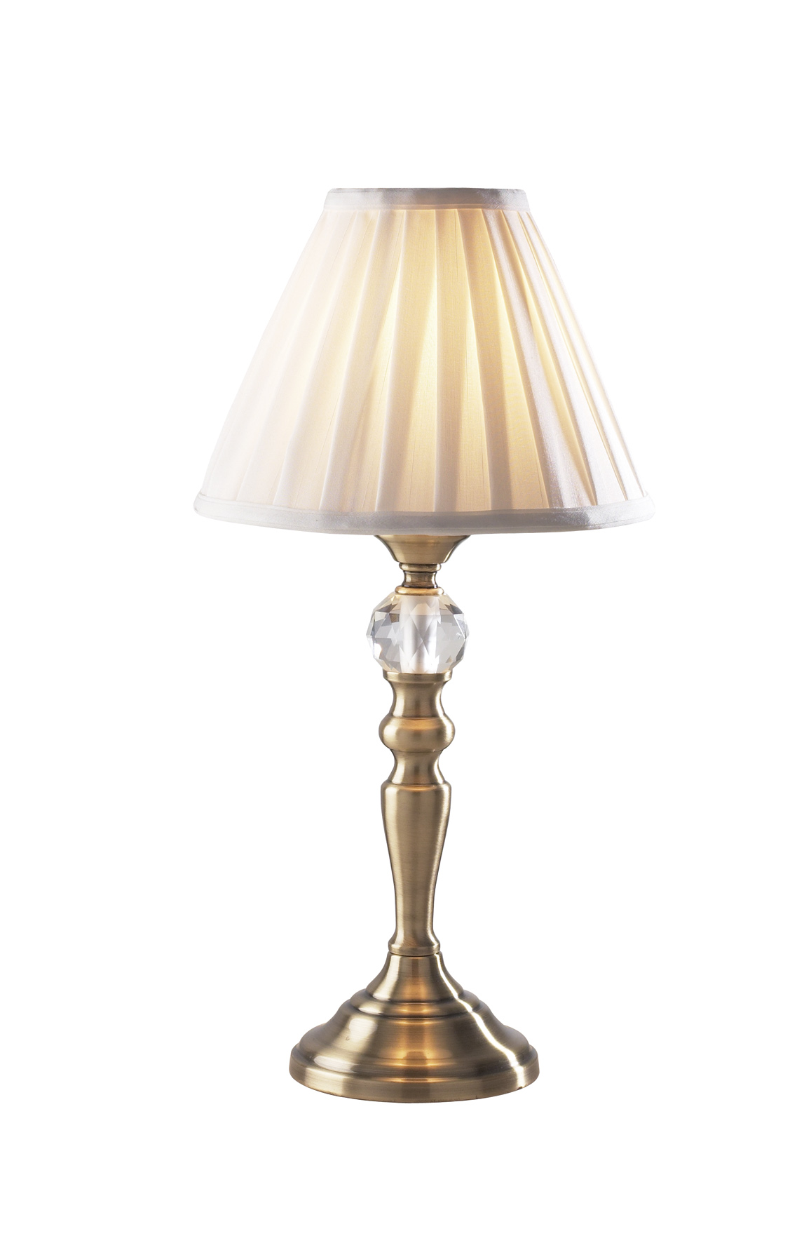 beau antique brass white touch table lamp txbea4075