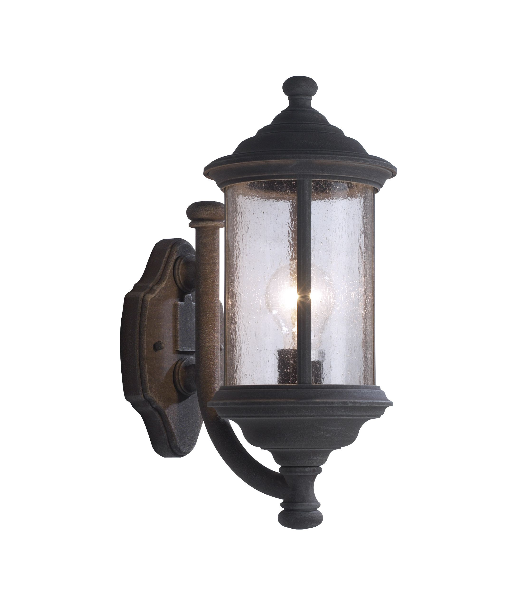Double Insulated Switched Wall Lights : Brompton 1-light Old Iron Double Insulated Outdoor Wall Light Double Insulated BXBRO1661-17