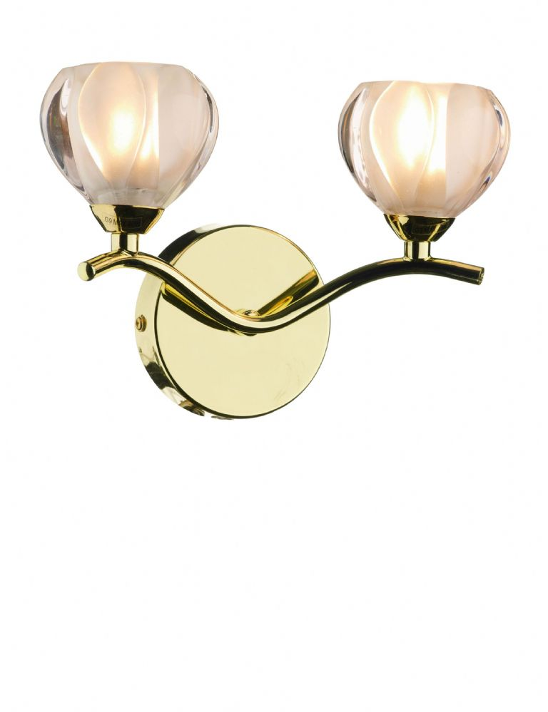 Double Insulated Class 2 Wall Lights : Cynthia 2-light Polished Brass Wall Light 024910 Class 2 Double Insulated BXCYN0940-17