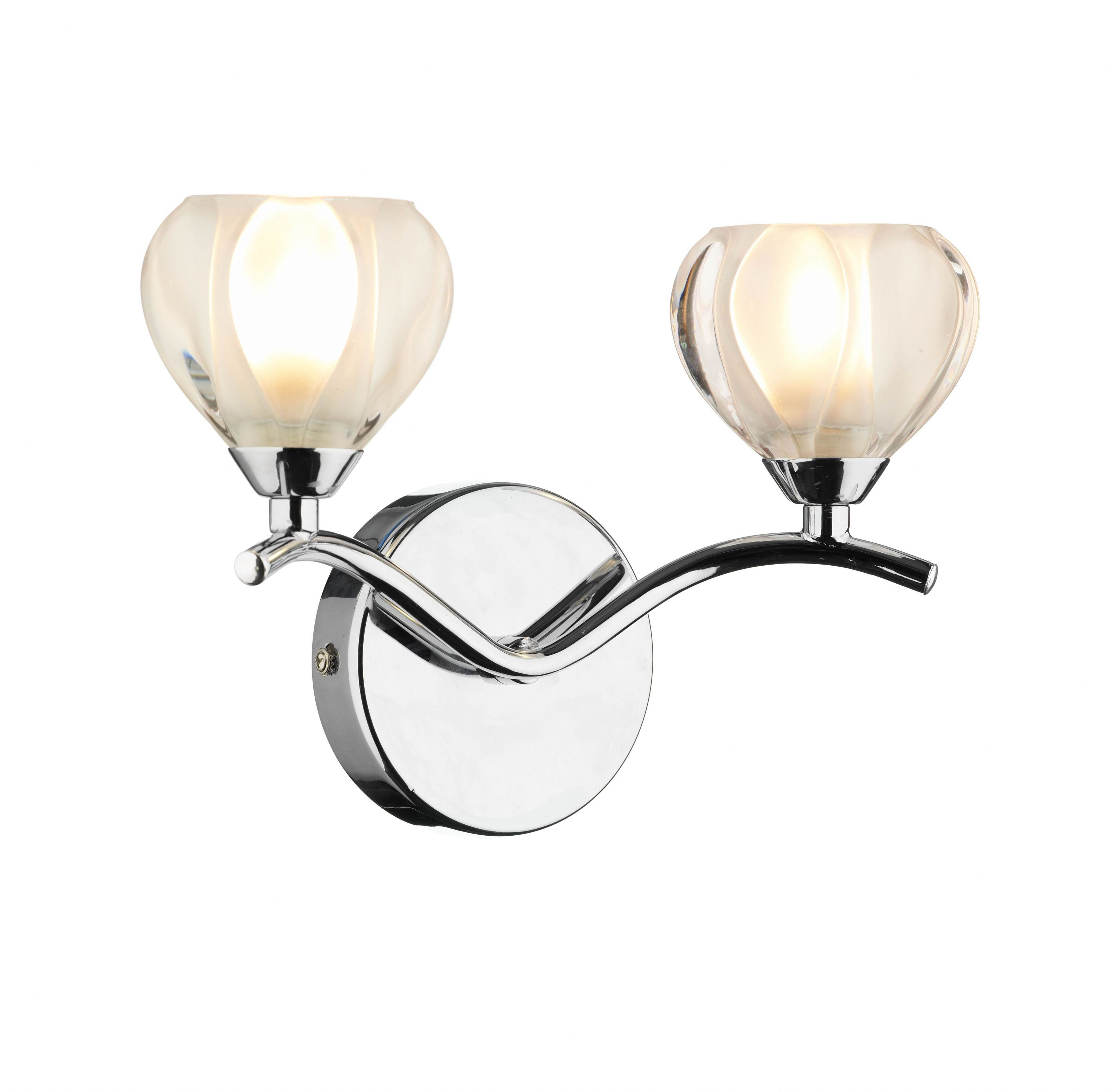 Double Insulated Class 2 Wall Lights : Cynthia 2-light Polished Chrome Wall Light 021776 Class 2 Double Insulated BXCYN0950-17