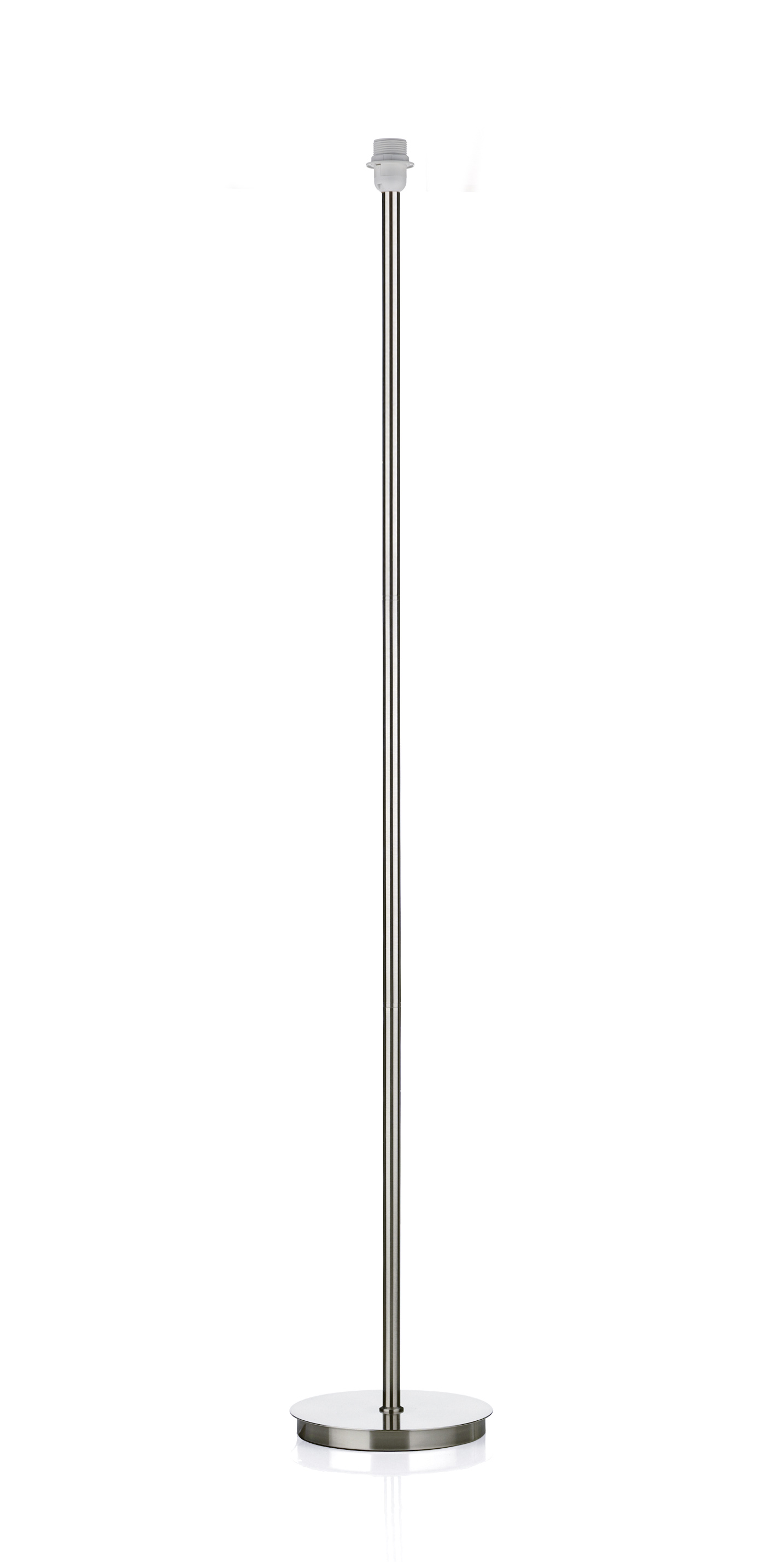 Dar Tuscan Floor Lamp Base Only Satin Chrome TUS4946 (Class 2 Double  Insulated)