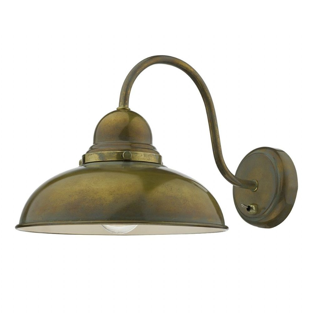 Double Insulated Class 2 Wall Lights : Dynamo 1 Light Wall Bracket Weathered Brass Class 2 Double Insulated BXDYN0742-17