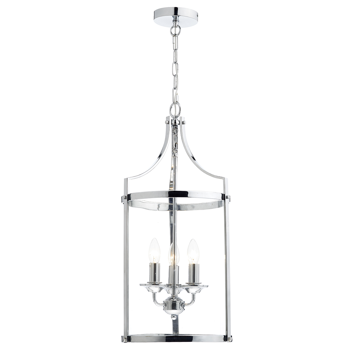 Ely 3 Light Pendant Polished Chrome Class 2 Double
