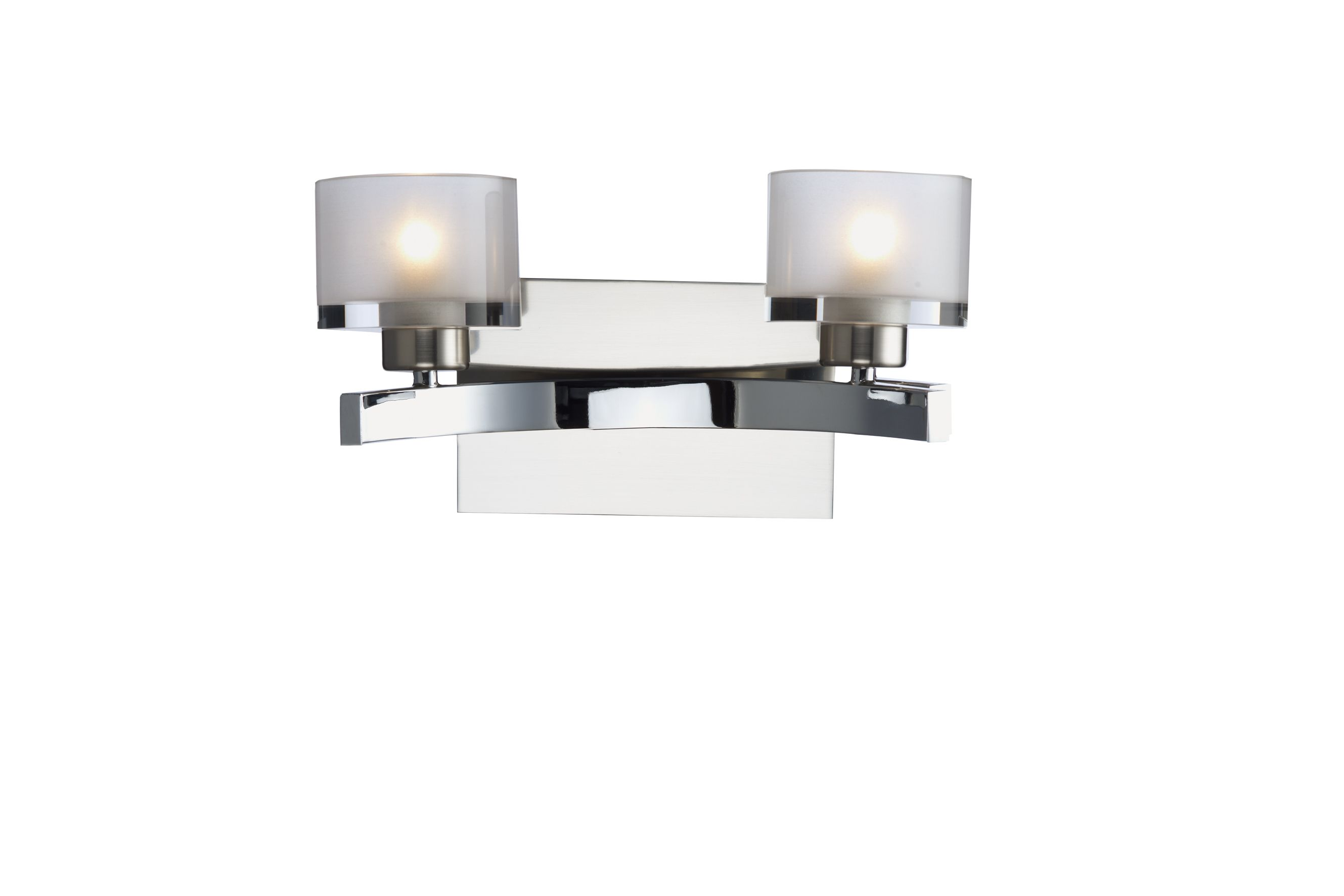 Double Insulated Class 2 Wall Lights : Eton Double Wall Bracket Polished Chrome Satin Chrome Class 2 Double Insulated BXETO0950-17