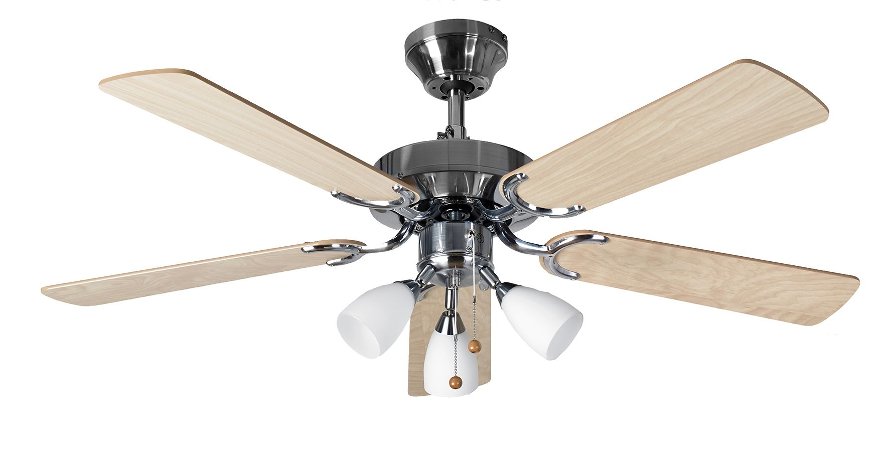 eurofans genoa 42 stainless steel ceiling fan light