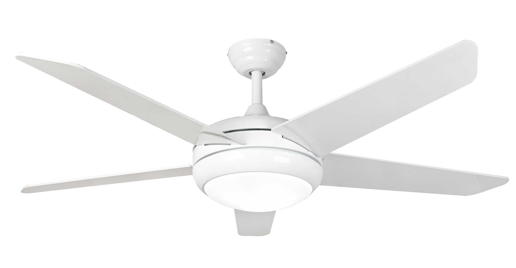 Eurofans Neptune 44 White Ceiling Fan Remote Control Led