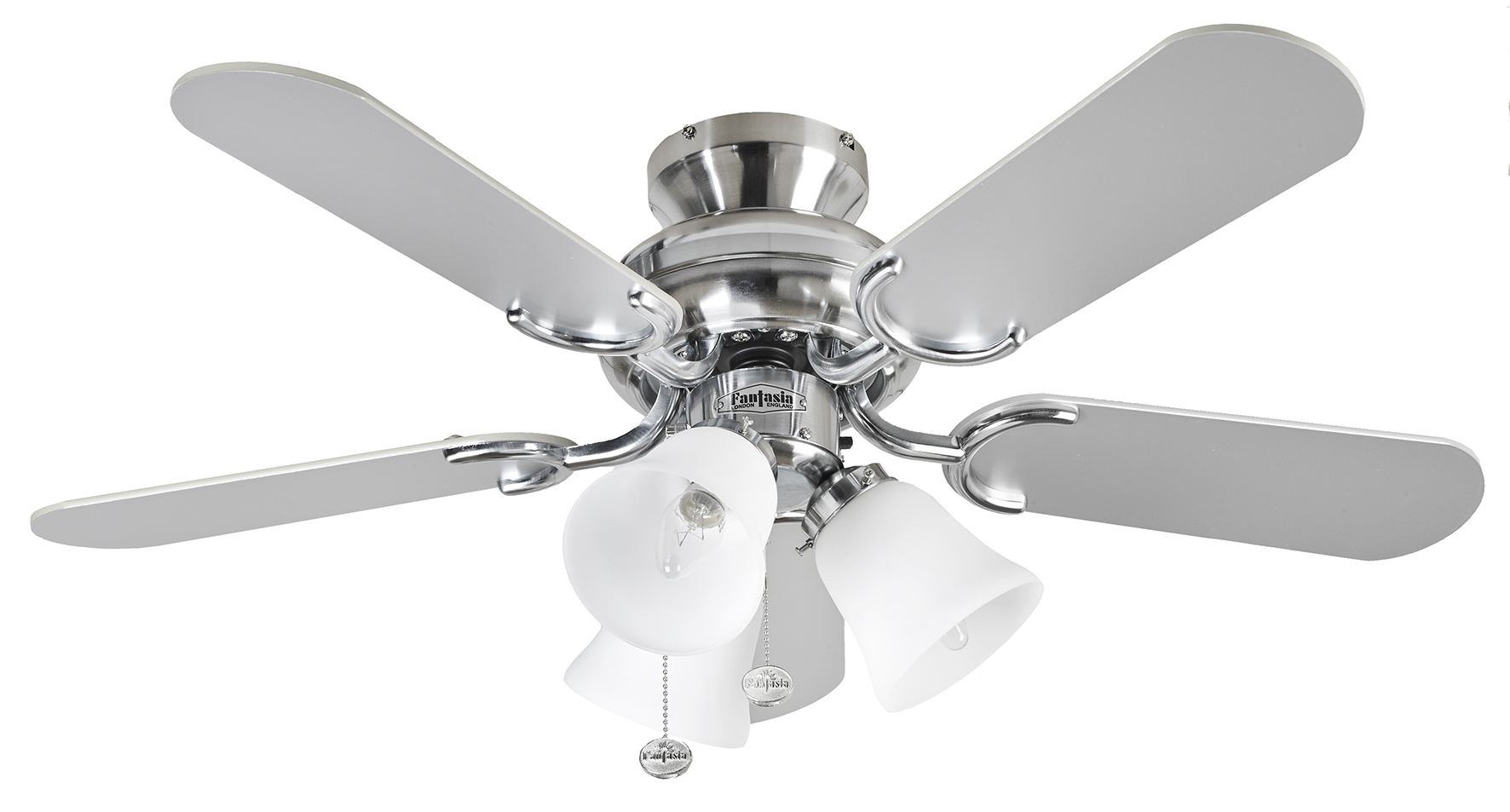 Fantasia Capri Combi 36 Stainless Steel Ceiling Fan Light