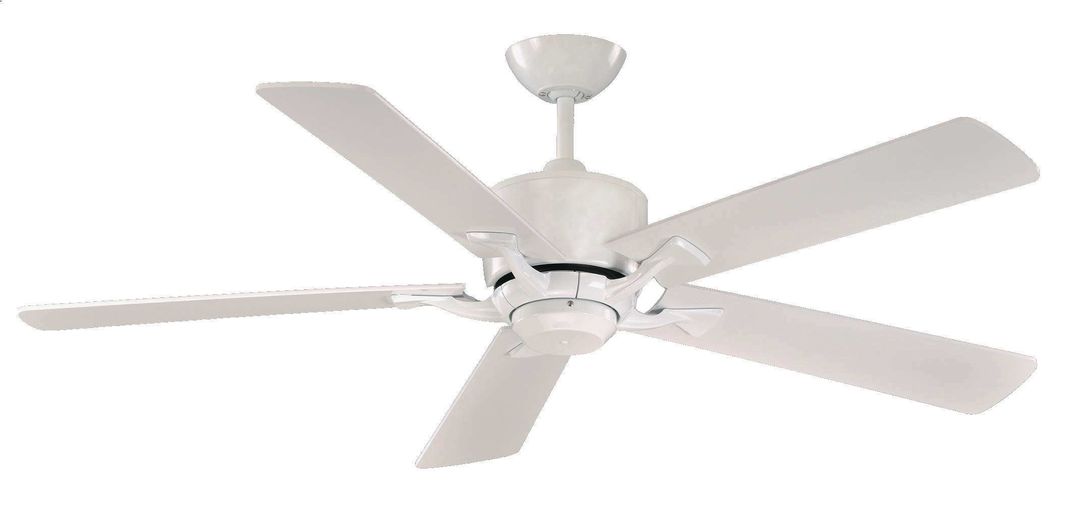 Control Ceiling Fan : Fantasia delta elite gloss white ceiling fan remote