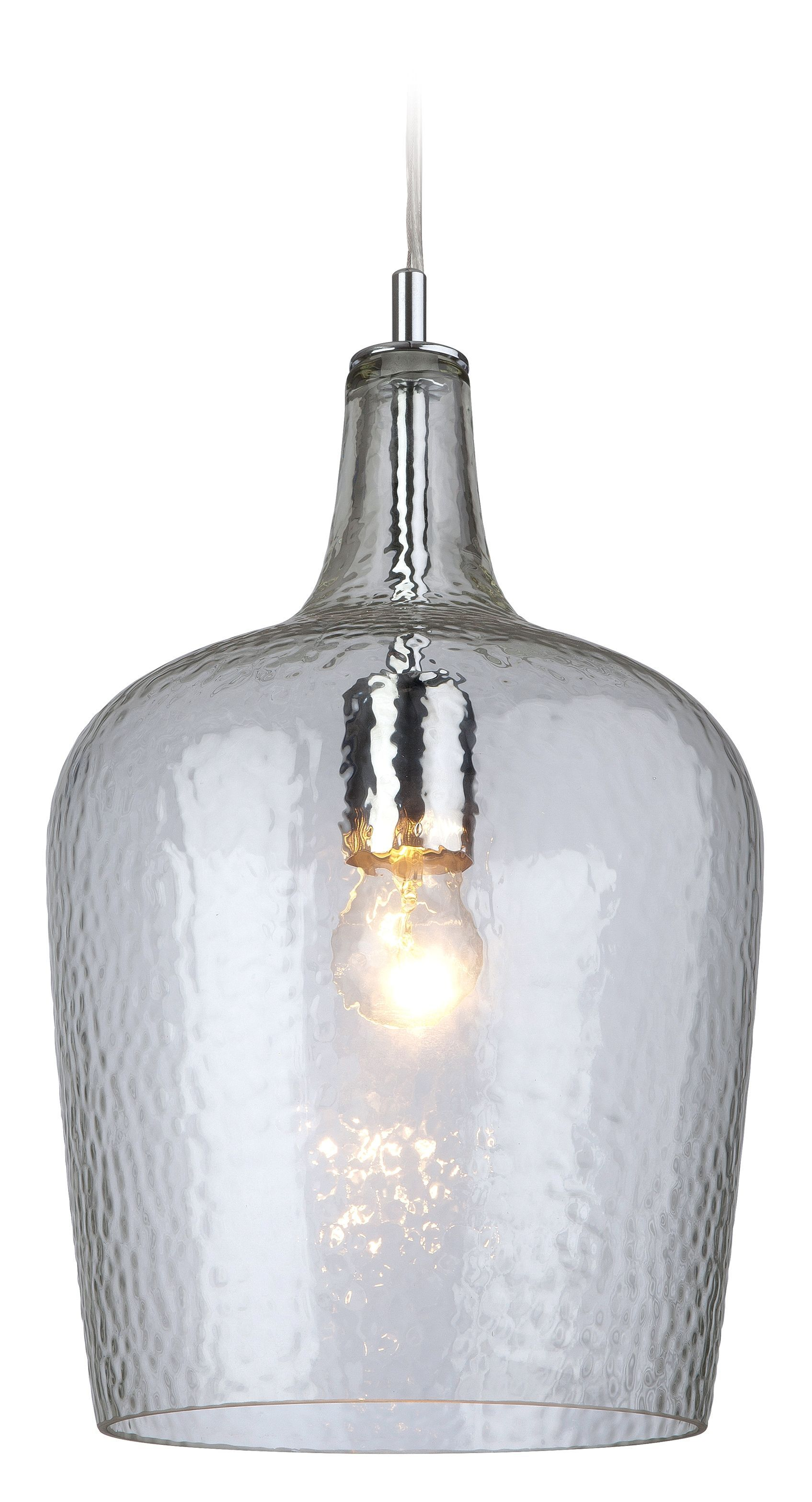 Firstlight 2301cl Chrome With Clear Glass Glass Pendant