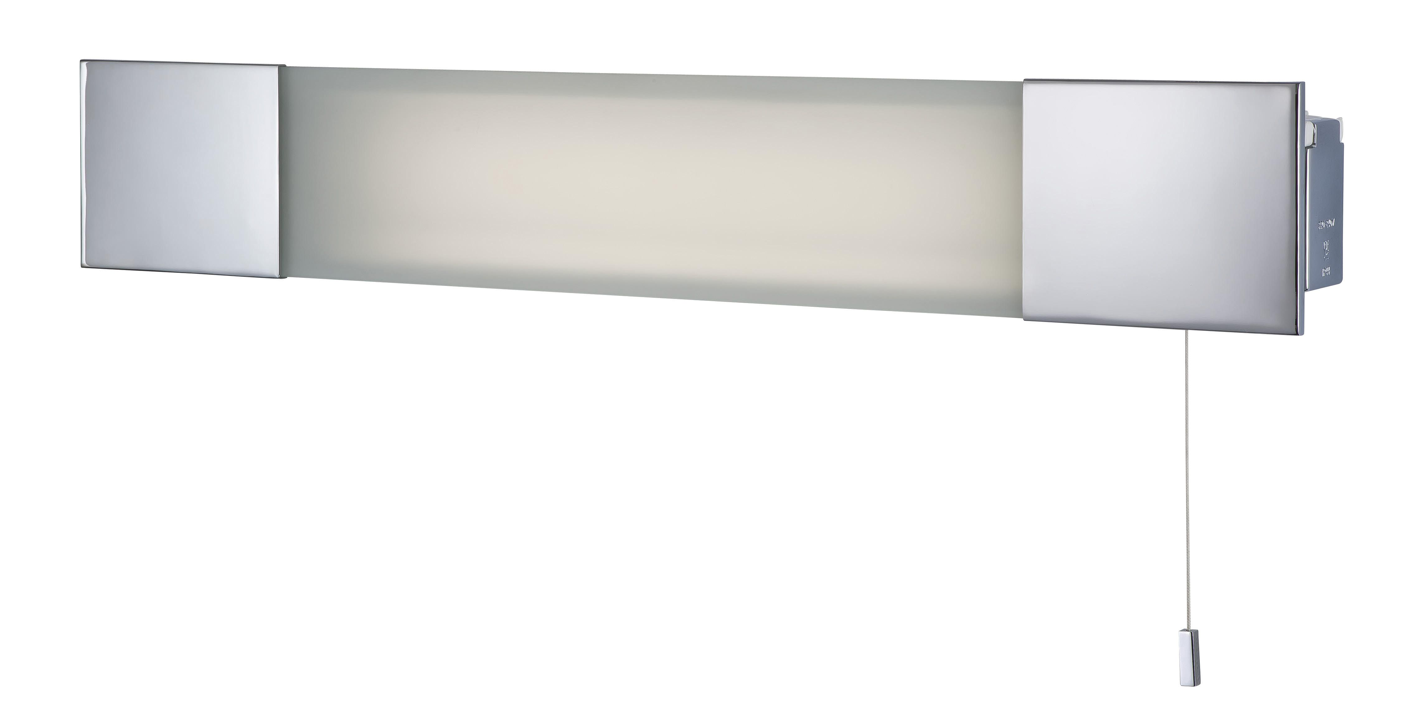 Firstlight 8236CH Chrome With Frosted Glass Over Mirror