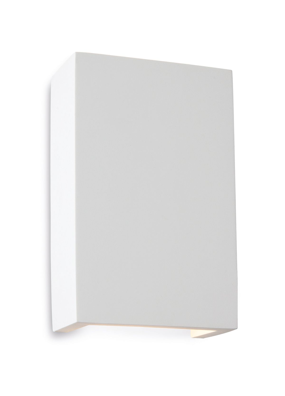 Firstlight 8324 White with White LED s Gallery Square Plaster Wall Light