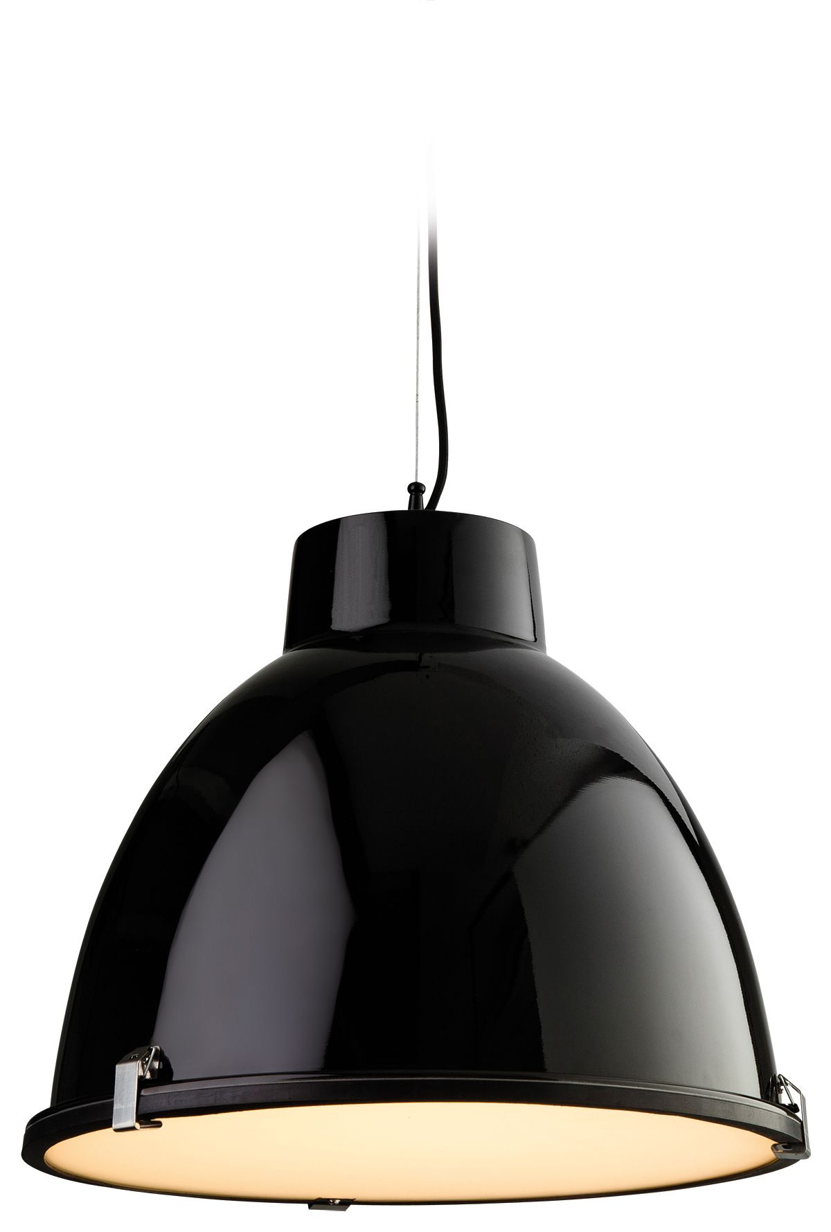 Firstlight 8621BK Black with Frosted Glass Manhattan Pendant