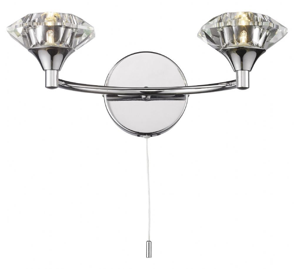 Double Insulated Class 2 Wall Lights : Luther 2-light Polished Chrome Wall Light 025097 Class 2 Double Insulated BXLUT0950-17