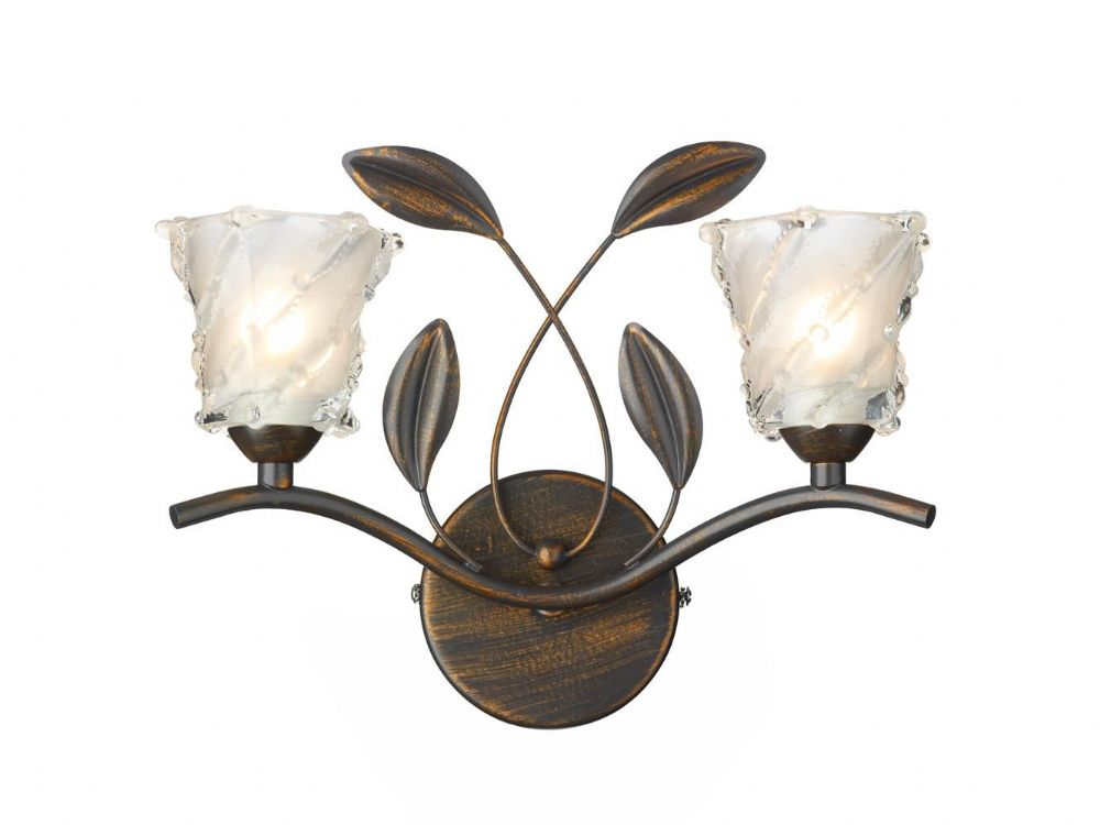 Double Insulated Class 2 Wall Lights : Prunella 2-light Bronze Wall Light 024139 Class 2 Double Insulated BXPRU0963-17