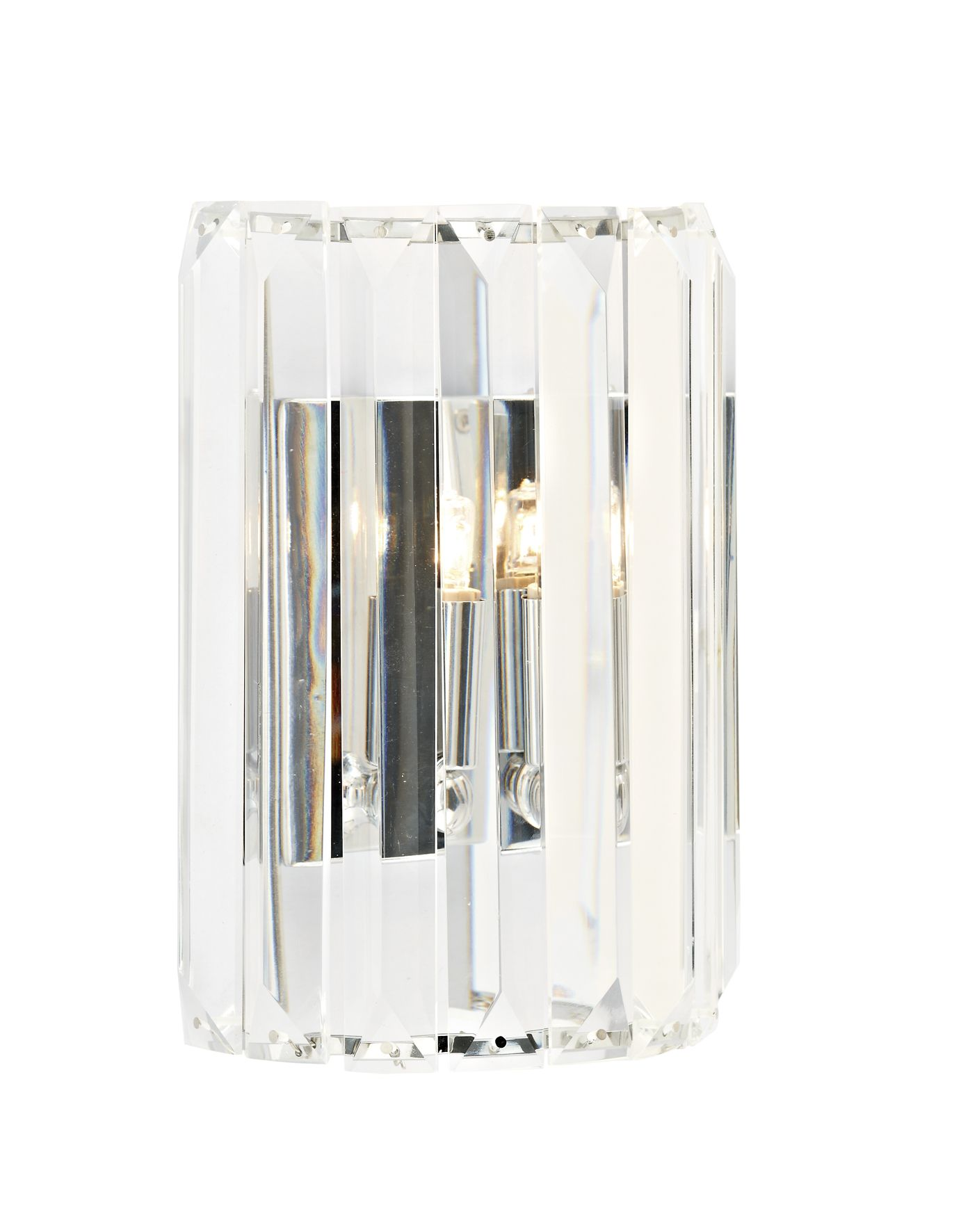 Double Insulated Class 2 Wall Lights : Sketch 1 Light Crystal Wall Bracket Polished Chrome Class 2 Double Insulated BXSKE0750-17