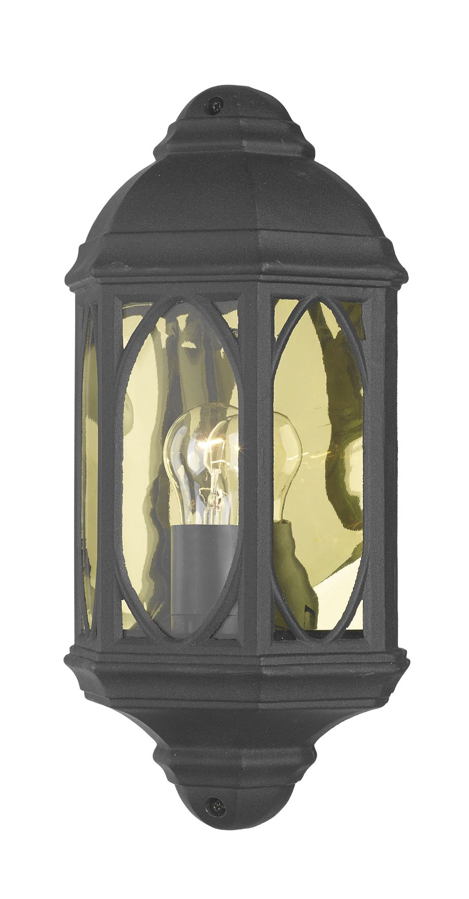 Double Insulated Class 2 Wall Lights : Tenby Wall Light Black Class 2 Double Insulated BXTEN2122-17