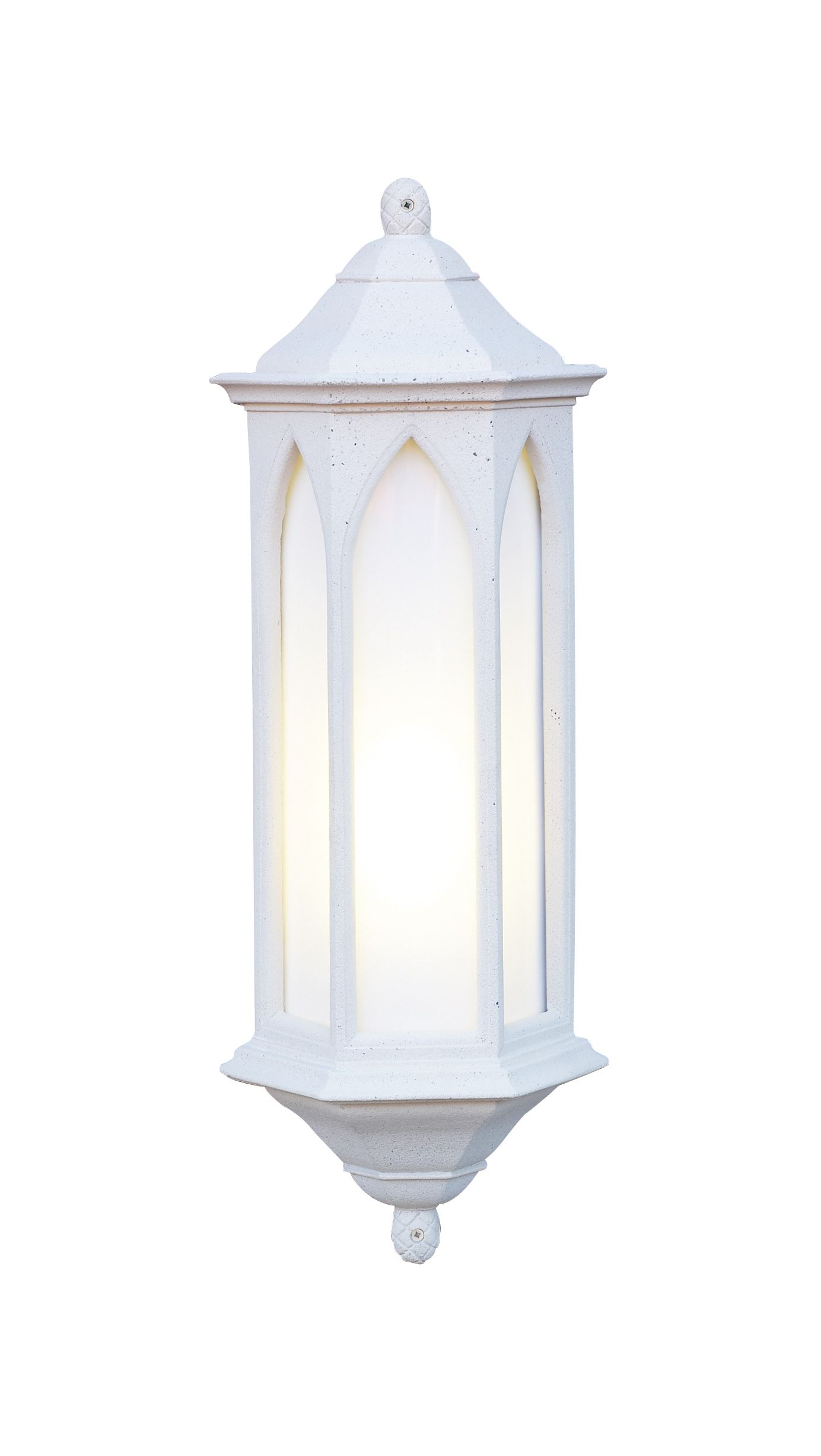 Low Energy Exterior Wall Lights : Winchester 1-light Low Energy Outdoor Wall Light Stone finish Large WR34 LE