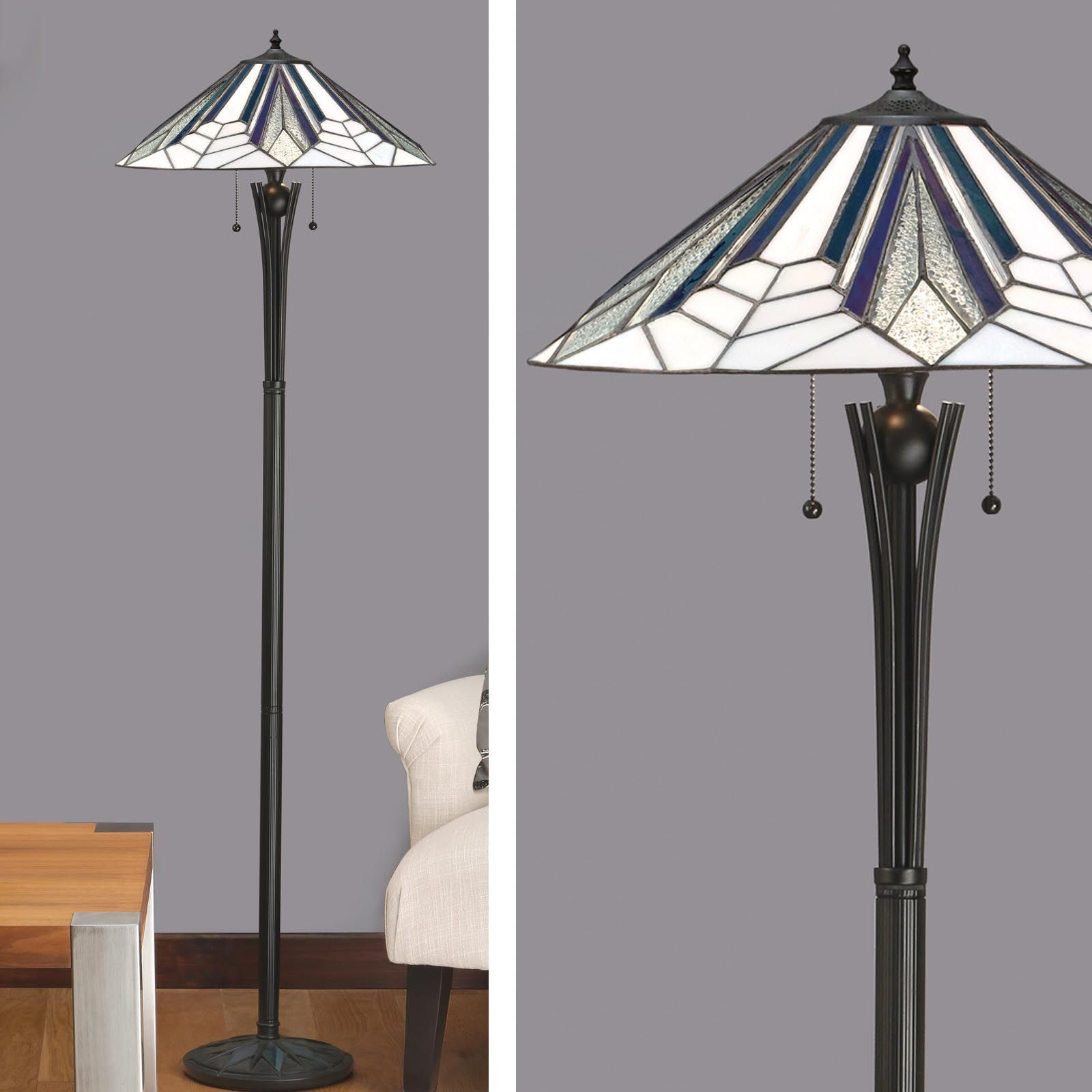 Astoria floor lamp art deco floor lamp tiffany style for Art deco style lamp