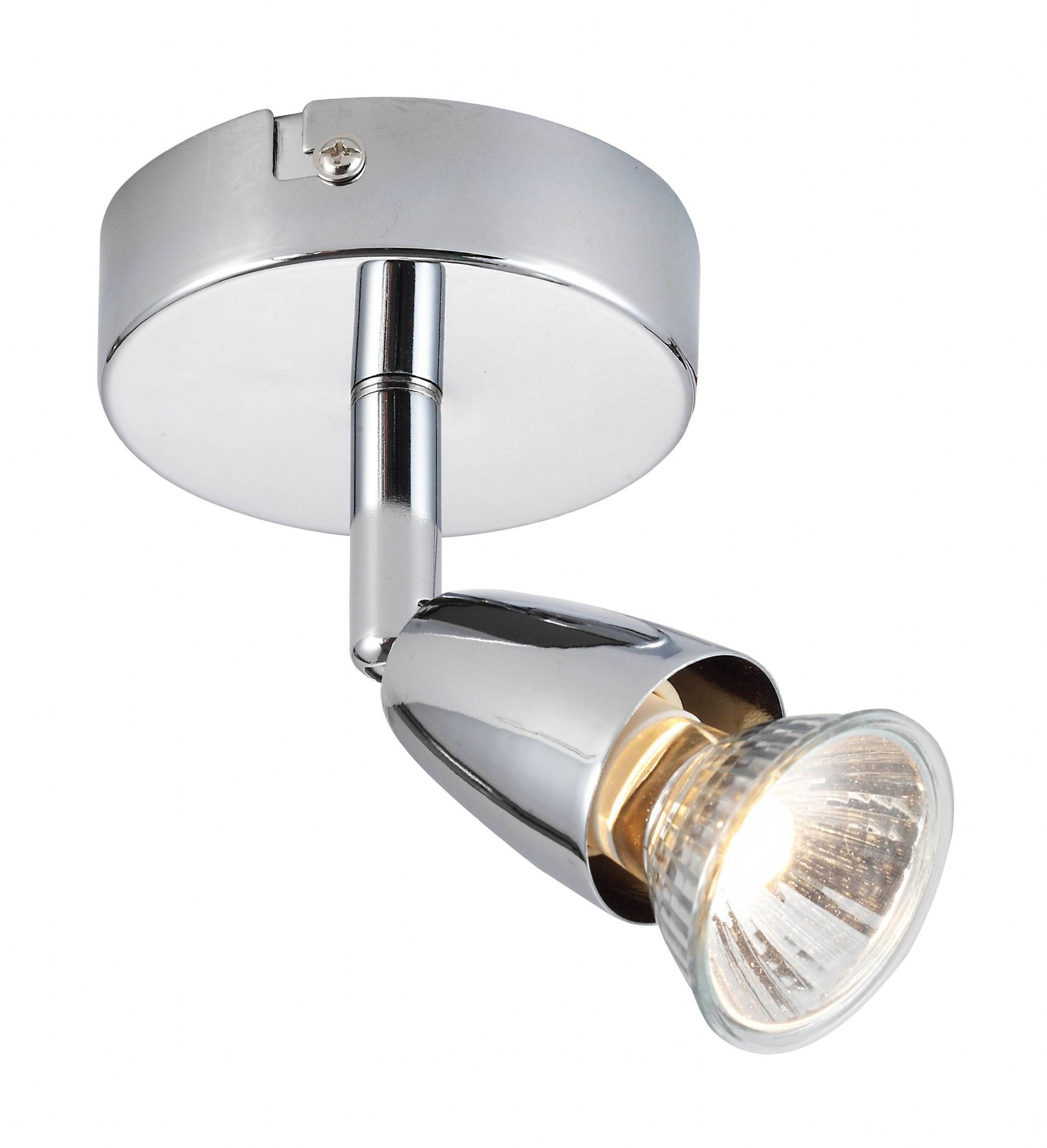 Chrome Effect Plate Spotlight 43277 By Endon