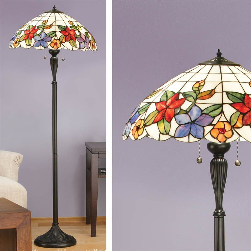 country border floor lamp nature traditional floor lamp. Black Bedroom Furniture Sets. Home Design Ideas