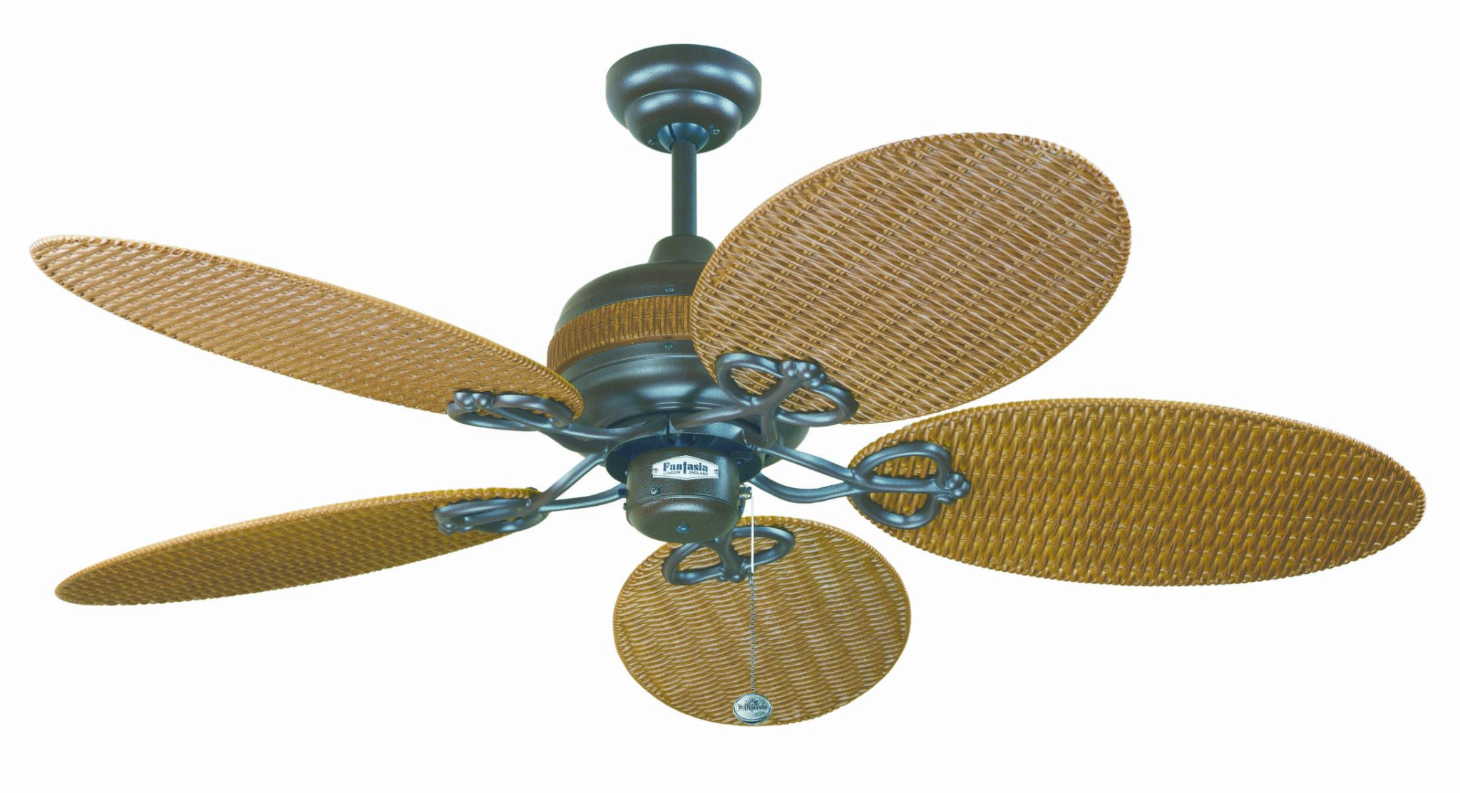 Fantasia Wicker 48 Chocolate Brown Wicker Acrylic Blade Ceiling Fan 111696
