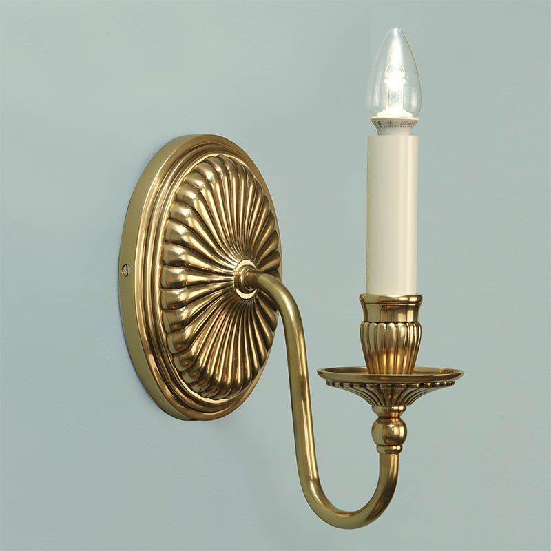 Wall Lamps Traditional : Fitzroy Solid Brass Wall Light Traditional Wall Lamp ABY133W