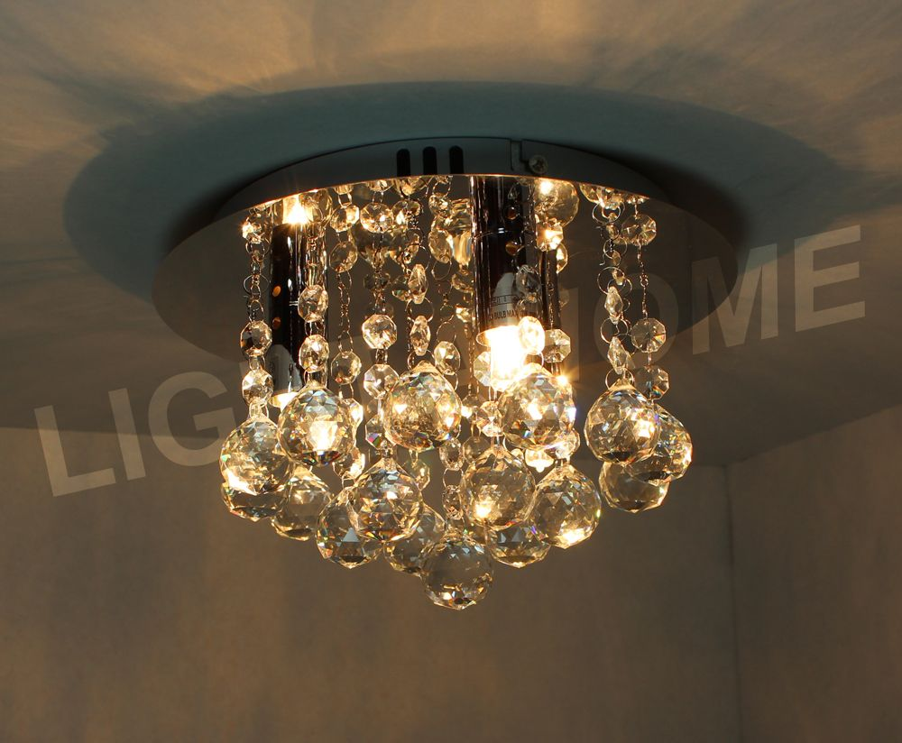 Hanna Crystal Wall Lights : Hanna 3-light EXCLUSIVE DESIGN Chrome & Crystal Ceiling Light 820857
