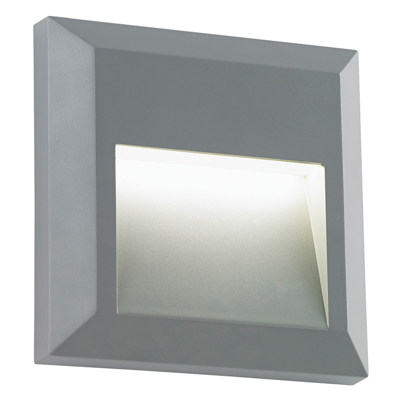 1-5 LED SUFACE MOUNTED BRICKLIGHT - SQUARE LOUVERED BXEL-40107-17 (Class 2 Double Insulated)