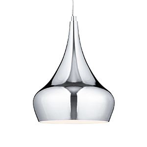 1 Light Chrome Yurt Pendant 3200Cc
