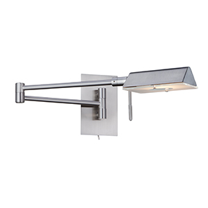 1 Light Satin Silver Swing - Arm Wall Light 7665Ss