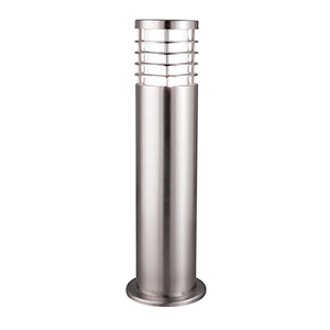 1 Light 45Cm Satin Silver Outdoor Post Lamp. Ip44 1556-450