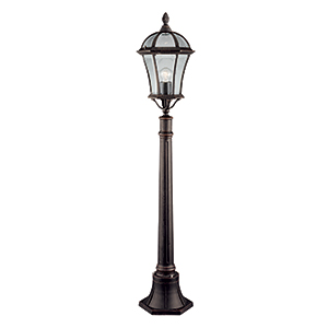 1 Light Outdoor 950Mm Rustic Brown Post. Ip43 1568
