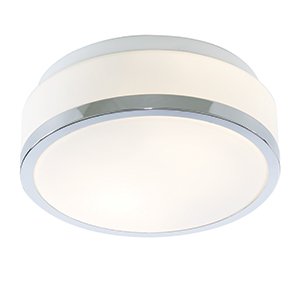 23Cm Chrome Flush Fitting With White Glass 7039-23Cc