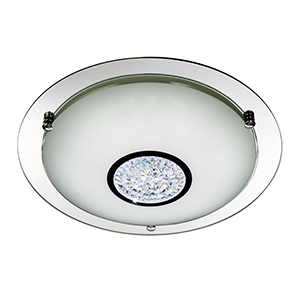 24 X Led Flush - White Shade And Glass Detail - Dia 41Cm 2773-41