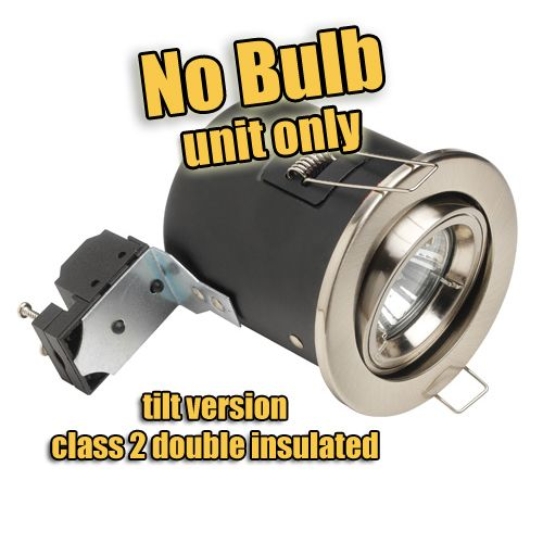 240V PREMIUM, Fire-rated LED downlight, Tilt, No Bulb, Double Insulated