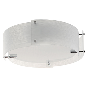 3 Light 4 Panel Frosted Glass Semi Flush 6044-44