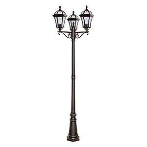 3 Light Outdoor Post Rustic Brown. Ip43 1569-3