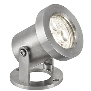 3 X 1W Led Stainless Steel Outdoor Spotlight. Ip65 6223Ss