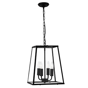 4 Light Black Lantern Pendant 5614Bk