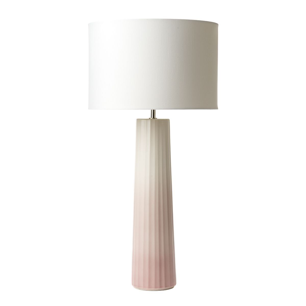 Abilo Table Lamp Pink Cream Ceramic Base Only