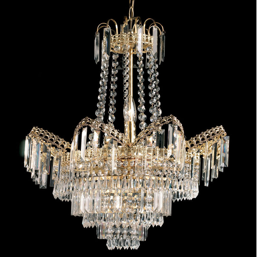 Adagio 9 Light Chandelier - Gold Finish With Glass Drops 96819-GO