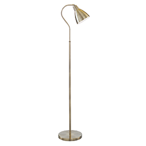 Antique Brass Floor Lamp 5026Ab (Class 2 Double Insulated)