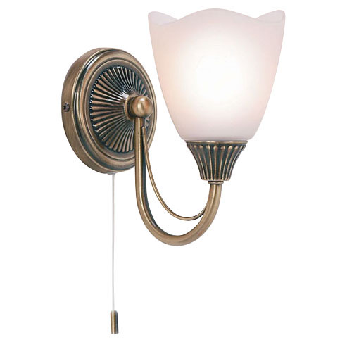 Antique Brass Single Wall Light 601-1AN